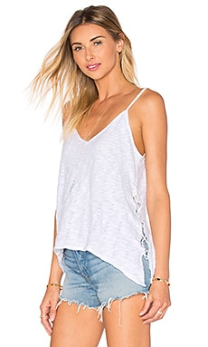 Naomi Lace Up Tank in White