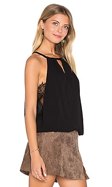 Mei Drape Tank in Black