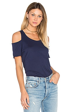 Jana Cut Out Tee in Denim