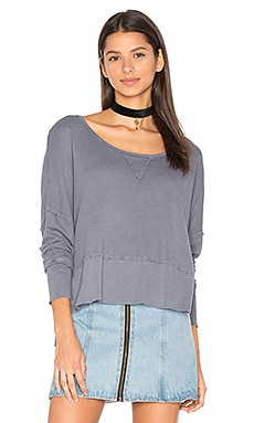Lori Long Sleeve Tee in Pewter
