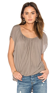 Lizbeth Drape Top in Peppercorn