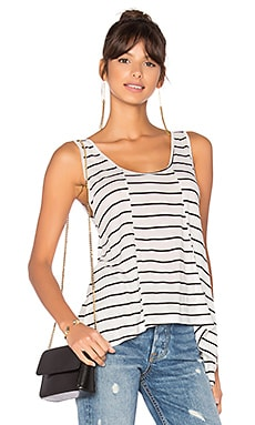 Olivia Tank in Black & White Stripe