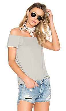 Imelda Off Shoulder Top in Moonmist