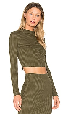 Emanuelle Crop Top in Olive Night