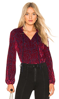 Stevie Velvet Blouse LA Made $43