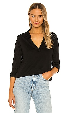 Candace Long Sleeve Pullover Henley LA Made $108 NEW