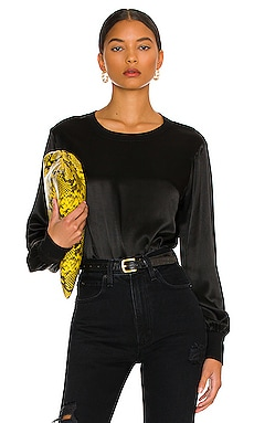 Belle Of The Ball Silky Long Sleeve Top LA Made $97 NUEVO