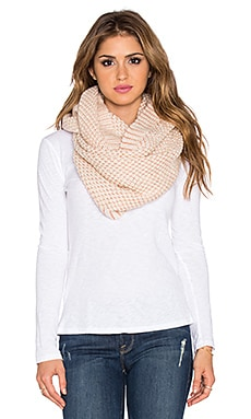 LA Made Mia Infinity Scarf in Cream & Rosa