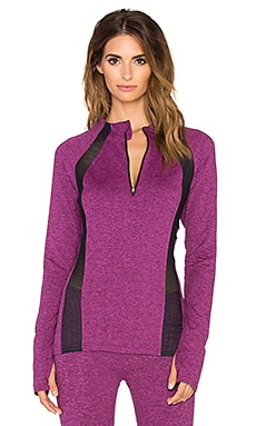 Lanston Sport x REVOLVE Mesh Long Sleeve Top in Mulberry Plum