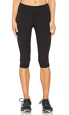 Lanston Sport Mesh Crop Legging in Black