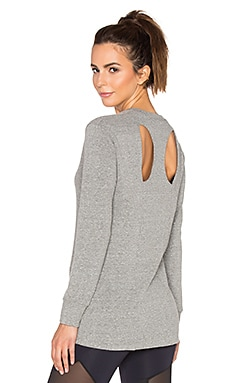 Lanston Sport Cutout Back Sweatshirt in Heather
