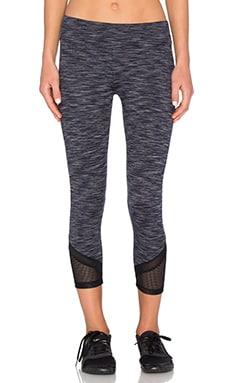 Lanston Sport Mesh Bottom Cropped Legging in Grey
