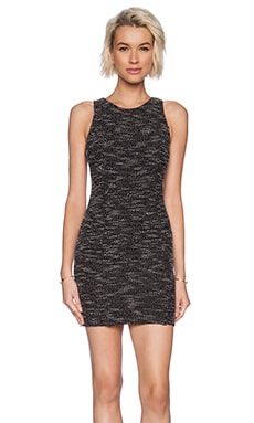 Lanston Tweed Sheath Dress in Black & White