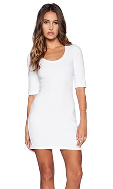 Lanston Tee Mini Dress in White