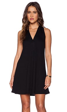Lanston V Racerback Mini Dress in Black