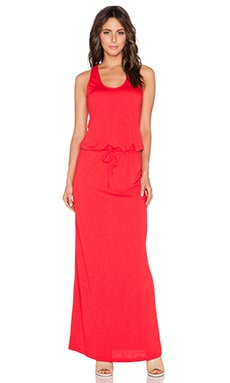 Lanston French Terry Racerback Maxi Dress in Red