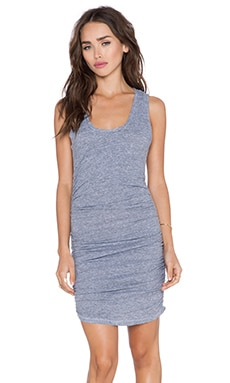 Tri Blend Gathered Tank Dress in Heather