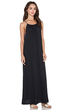 Lanston Tri Blend Halter Maxi Dress in Black
