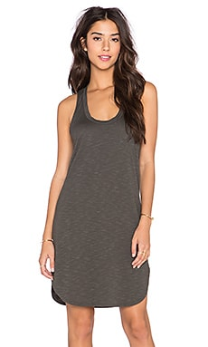 Lanston Scoop Racerback Mini Dress in Forest