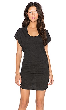 Lanston Side Ruched Dress in Black