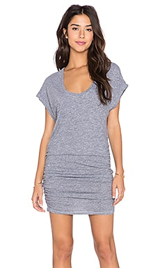 Lanston Side Ruched Dress in Heather