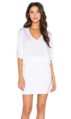 Lanston Deep V Dress in White