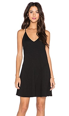 Lanston Flare Cami Dress in Black
