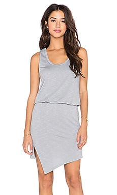 Lanston Asymmetrical Tank Dress in Haze