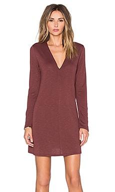 Lanston Long Sleeve Flare Dress in Brick