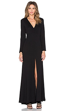 Long Sleeve Maxi Dress en Noir