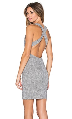 Cross Back Mini Dress in Grey