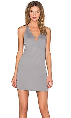 Lanston Deep V Mini Dress in Mineral