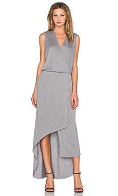 Surplice Maxi Dress in Mineral