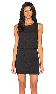 Ruched Mini Dress in Black