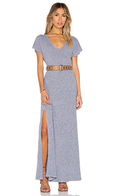 Lanston V Neck Maxi Dress in Heather