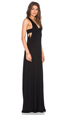 Lanston Cutout Maxi Dress in Black