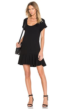 Ruffle T Dress en Noir
