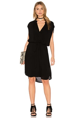 Lanston Sleeveless Shirt Dress in Black