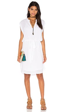 Lanston Sleevelees Shirt Dress in White