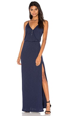 Back Bar Slit Maxi Dress