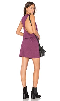 Lanston Twist Back Racerback Dress in Raspberry