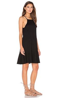 Drop Flare Mini Dress in Black