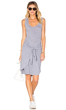 Tie Front Dress in Heather