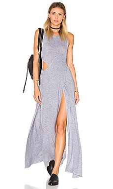 Lanston Crossover Cutout Maxi Dress in Heather