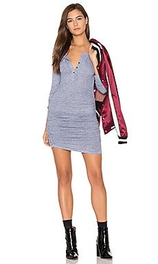 Ruched Henley Dress in Heather