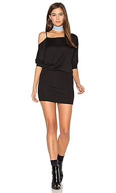 Off the Shoulder Mini Dress in Black