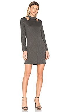 Cutout Turtleneck Dress в цвете Милитари