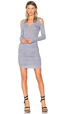 Exposed Shoulder Dress en Heather