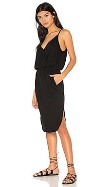 Surplice Cami Dress in Black