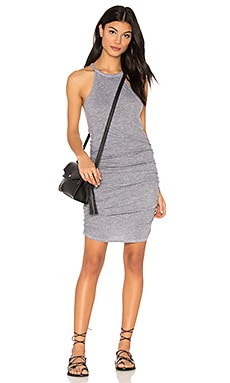 Ruched Halter Dress in Heather